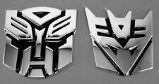 3D Logo Protector Autobot Transformers Badge Graphics Car Decal Sticker 2 Styles