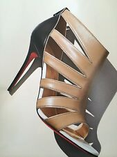 Christian Louboutin BEAUTY K Caged Cutout Strappy Bootie Sandal Heel Shoes $895