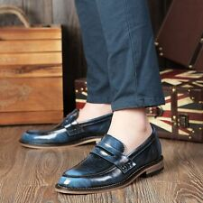 Mens Dress Formal Casual Pointed Toe Oxford Brogues Slip On Loafers Shoes