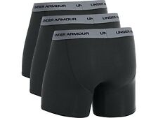 "Under Armour Men's Performance Charged Cotton Stretch 6"" Boxerjocks 3/Pack-Black"