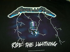 METALLICA RIDE THE LIGHTNING DOUBLE SIDED PRINT T-SHIRT NEW !