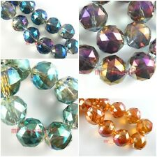 Bulk 10pcs Lampwork Faceted Round Glass Crystal Beads Loose Spacer Finding 20mm