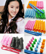 Womens Salon Magic Hair Styling Long Spiral Leverage Ringlet Rollers Curlers