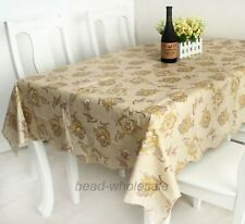#4European Style PVC Waterproof Oilproof Dinner Table Tea Table Cloth Tablecloth