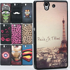 Deluxe Leather TPU fancy SUPERMAN Tower Case cover skin for Sony Xperia Z L36H
