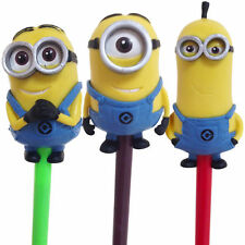 DESPICABLE ME 2 3D PENCIL TOPPERS FIGURES OFFICIAL NOVELTY STATIONERY TOY