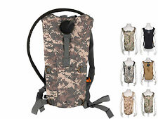 3L Mouth Water Bladder Bag Hydration System with Army Camo Backpack Cycling