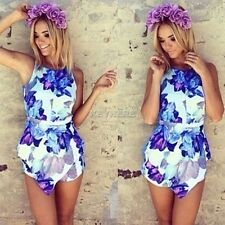 New Summer Ladies Sexy Women Celeb Floral Print Playsuit Dress Jumpsuit Shorts