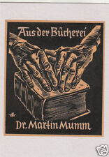 EX LIBRIS BOOKPLATE DI RUDOLF WARNECKE