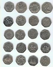 50P  FIFTY PENCE. Suffragette, Scouts, VC, Guides, Bannister,  Dictionary, etc.
