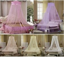 Princess Lace Satin Decorative Bed Dome Netting Canopy Fly Insect Mosquito
