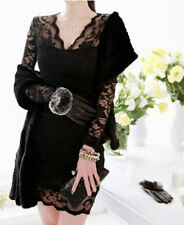 Free Shipping New Style Fashion Black Lace Ladies Sexy dress For Women