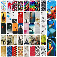 Vogue Coloured Case Cover fr Iphone 4 4S 5S Drawing Pattern Individual Character