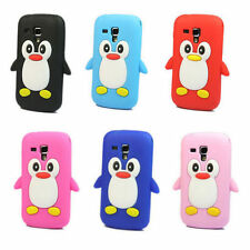 Pingouin Housse Etui Coque Silicone Pour Samsung Galaxy Trend S7560 S Duos S7562