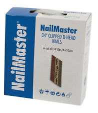 FOX Nailmaster 50mm,64mm,75mm,90mm Galvanised First Fix Clipped Head Nails & Gas