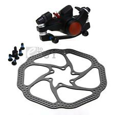 MTB Mountain Bicycle Cycling Bike Front/Rear Disc Brake Kit Aluminum Alloy