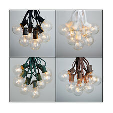 100 Foot G50 Outdoor Lighting Patio Party Globe String Lights-125 Clear Bulb Set