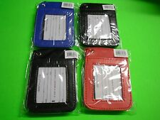 New Black  Red  Blue Leather ID Card Holder ID card Pouch  ID card Badge Holder