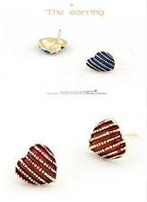 Hot Selling New fashion crystal Studs earring options 2colour U pick A1048
