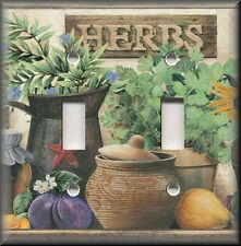 Switch Plates And Outlets - Country Kitchen Garden Herbs - Home Decor