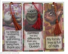 H&H 3D Bookmark -Animal Themed Sentimental & Humorous Sayings for Family Friends