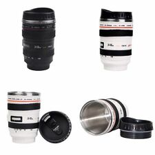 Novelty Camera Lens Cup Coffee Tea Travel Mug Gift Cup Stainless Steel Thermos