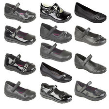 GIRLS KIDS BLACK BACK TO SCHOOL SHOES MARY JANE FORMAL CASUAL PARTY SIZE'S 6-5