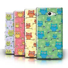 STUFF4 Back Case/Cover/Skin for Sony Xperia M2/Cute Owl Pattern