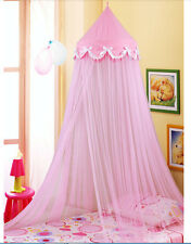 Bowknot Decorative Princess Pink Dome Netting Canopy Fly Insect Twin Queen Crib