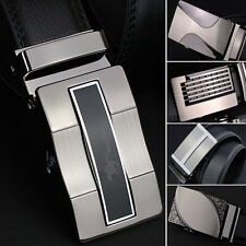 Mens Trend Of Korean Real Leather Automatic Buckle Belt Waistband Wide Belt GR57