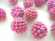 15mm IRIDESCENT OPAGUE VIOLET ACRYLIC LUCITE BERRY LOOSE BEADS HP01861