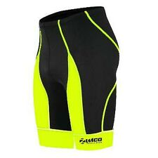 Zimco Men Pro Cycling Bike Bicycling Cycle Short COOLMAX Padded Black/HiViz 143