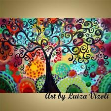 Glossy Gallery Stretched Canvas TREE OF JOY Print Painting by Luiza Vizoli