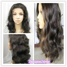 "cheap! 12""-22"" Loose body wave lace wig 100% indian remy human hair wigs"