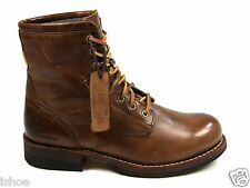 MENS CATERPILLAR THE LUTHER HI LEATHER LACE UP FLAT ANKLE BOOTS SIZE UK 6 - 12
