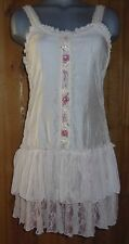 NWT PRETTY ANGEL CAMI DRESS SHIRT LACE intimate S M L XL vintage western gypsy