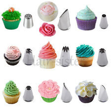 Icing Piping Nozzles Tips Cupcake Cake Decorating Pastry Swirls Cream DIY Tools
