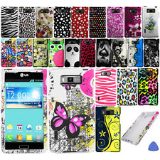 Hard Case Cover For LG Splendor US730 Venice Showtime L86C Phone, Vines + Tool