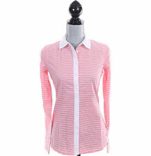 Tommy Hilfiger Women Long Sleeve Stripe Button Down Shirt - Free $0 Shipping