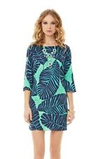 2014$198 Lilly Pulitzer Carol Shift Dress New Green Under The Palm Fall Favorite