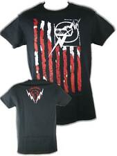 CM Punk American Flag Nexus Mens Black T-shirt