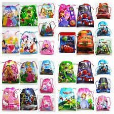 Cartoon image Drawstring Backpack  Handbags, waterproof camping bags 49 colors