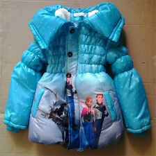 Girl thickened beijirong down long coat Frozen girl suit for fall winter C053