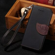 Hot Luxury PU Leather Wallet Case Flip Cover Pouch For Apple iPhone 4/4S/5/5S/5C