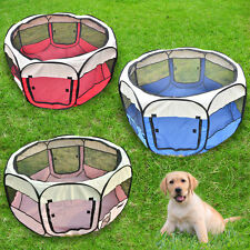 "35/45/57"" Portable Puppy Pet Dog Soft Tent Playpen Excercise Folding Crate Pen"