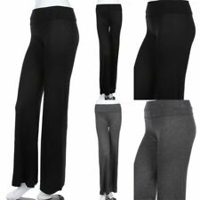 Junior Plus Size- Yoga Pants with Fold Over Waistband Stretch Comfy 1XL 2XL 3XL