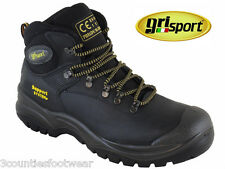 SAFETY BOOTS - GRISPORT WORK BOOTS  CONTRACTOR STEEL TOE BLACK HIKER STYLE