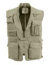 Khaki Deluxe Safari Outback Vest for Travel, Sportsment, Concealed Carry