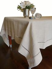 Beautiful Hemstitched Table Runner Quality Natural Table Clothes 60,80,90 Inch