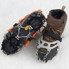 12-Teeth Ice Snow Climbing Walking Boot Shoe Cover Spike Cleats Crampons Gripper